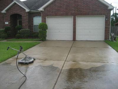 driveways pressure washing